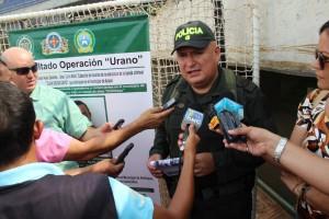 Coronel Carlos Vargas, Comandante de Policía Córdoba en declaraciones a la Prensa.