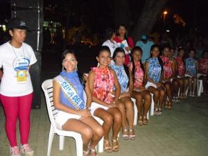 Las 23 candidatas, en el Lanzamiento del Festival Náutico.