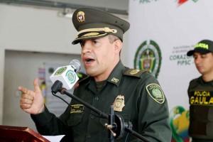 Coronel Jesús Rodolfo Díaz Seczon, Comandante de la Policía Metropolitana de Montería.